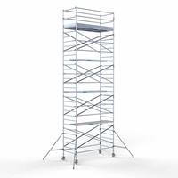 Euroscaffold Rolsteiger Compleet 135 x 305 x 10,2m werkhoogte met lichtgewicht platform