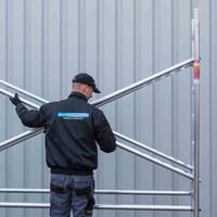 Euroscaffold Rolsteiger Compleet 135 x 305 x 12,2m werkhoogte met lichtgewicht platform