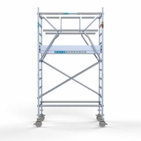 Euroscaffold Rolsteiger Compleet carbondeck 90 x 190 x 4,2m werkhoogte + dubbelzijdige voorloopleuningen