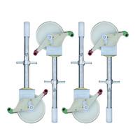 Euroscaffold Rolsteiger Compleet carbondeck 90 x 190 x 7,2m werkhoogte + dubbelzijdige voorloopleuningen