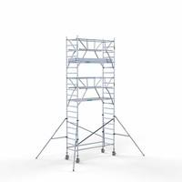Euroscaffold Rolsteiger Compleet 90 x 250 x 7,2m werkhoogte + dubbelzijdige voorloopleuningen