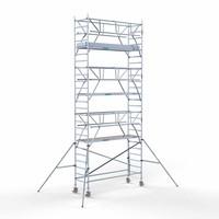 Euroscaffold Rolsteiger Compleet 90 x 305 x 8,2m werkhoogte + dubbelzijdige voorloopleuningen