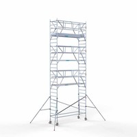 Euroscaffold Rolsteiger Compleet 90 x 305 x 9,2m werkhoogte + dubbelzijdige voorloopleuningen