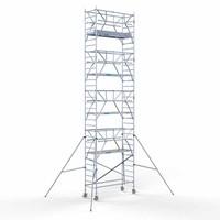 Euroscaffold Rolsteiger Compleet carbondeck 90 x 250 x 10,2m werkhoogte + dubbelzijdige voorloopleuningen