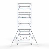 Euroscaffold Rolsteiger Compleet 90 x 305 x 10,2m werkhoogte + dubbelzijdige voorloopleuningen