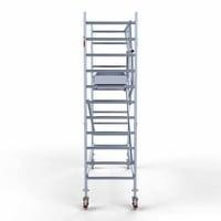 Euroscaffold Rolsteiger Compleet carbondeck 90 x 305 x 4,2m werkhoogte + enkelzijdige voorloopleuningen
