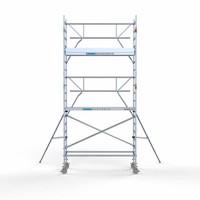 Euroscaffold Rolsteiger Compleet carbondeck 90 x 250 x 6,2m werkhoogte + enkelzijdige voorloopleuningen