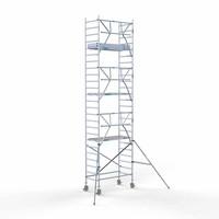 Euroscaffold Rolsteiger Compleet 90 x 190 x 8,2m werkhoogte + enkelzijdige voorloopleuningen