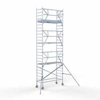 Euroscaffold Rolsteiger Compleet carbondeck 90 x 250 x 8,2m werkhoogte + enkelzijdige voorloopleuningen