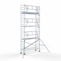 Euroscaffold Rolsteiger Compleet carbondeck 90 x 305 x 8,2m werkhoogte + enkelzijdige voorloopleuningen