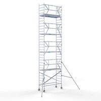 Euroscaffold Rolsteiger Compleet 90 x 250 x 10,2m werkhoogte + enkelzijdige voorloopleuningen