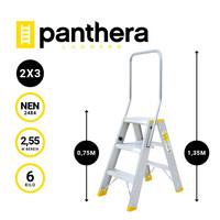 Panthera Panthera dubbele trap 2x3 treden
