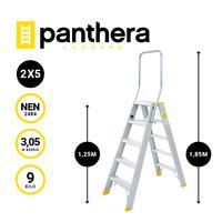 Panthera Panthera dubbele trap 2x4 treden