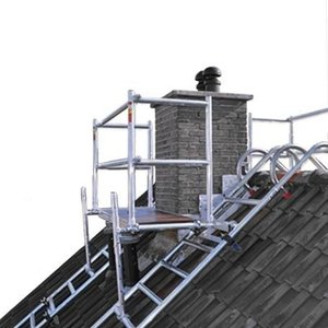 Dak- schoorsteensteiger compleet 250 cm