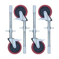Euroscaffold Steigerwiel met rubber profiel op stalen spindel max. 300 kg per wiel