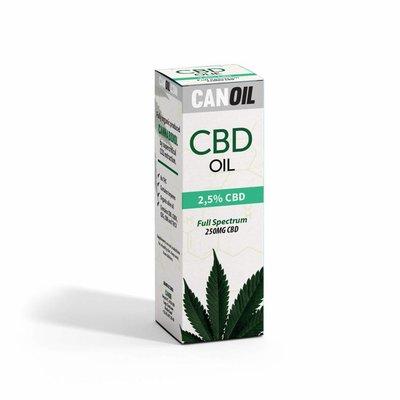 Canoil CBD Olie 2,5% (250 MG) 10ML Full Spectrum CBD