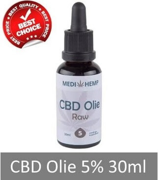 Medihemp CBD olie Raw 5%