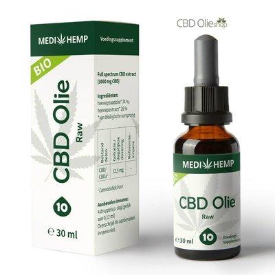 Medihemp CBD Olie Raw 10% CBD, 30 ml