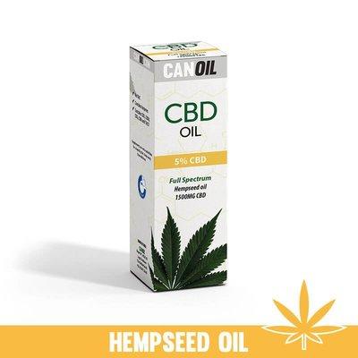 Canoil CBD Olie 5% (1500 MG) 30ML FS Hennepzaad Olie 0% THC