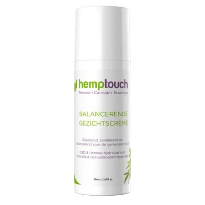 Hemptouch Balancerende CBD  Gezichtscrème, is een reinigende en verzachtende crème