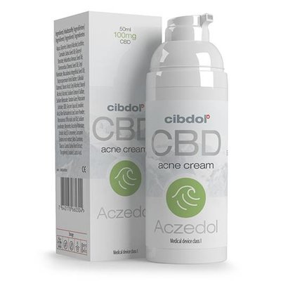 CIBDOL AczedolL CBD crème  | speciaal samengesteld ter verlichting van jeuk en een brandend gevoel bij Acne vulgaris.
