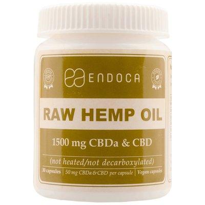Endoca CBD Capsules Raw 15% CBD, 1500 mg