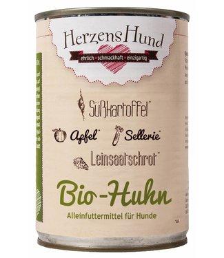 Herzenshund Bio-Huhn mit Bio-Gemüse 400 g