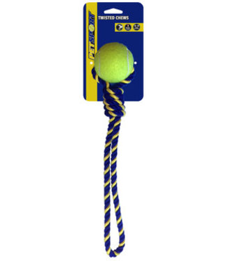 Knotted Cotton Rope Tug 38cm with Tuff Ball