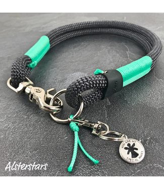 Alsterstars Tauhalsband - DARK GREY meets DREAM MINT