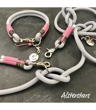 Alsterstars Tauleinenset - Silver meets Leather and Rose