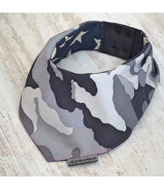 "Alsterstars Dogbandana ""Camouflage - Black & White"""