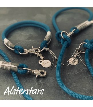 Alsterstars Tauleinenset - When Grey meets Petrol