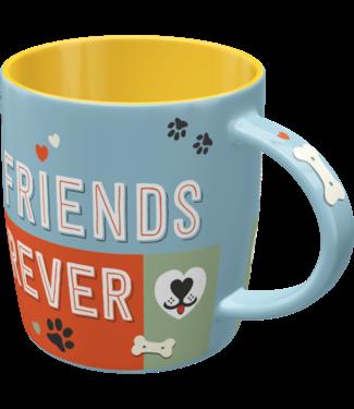 Pfotenschild Friends Forever - Tasse