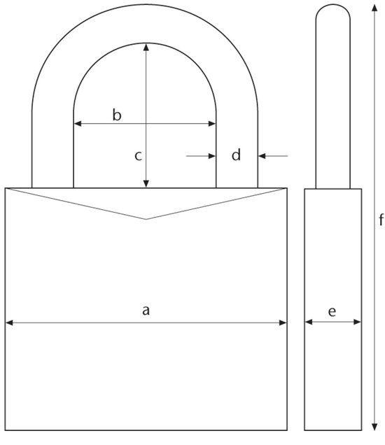 Veilig - veiligheidscilinder - set van 4 stuks 30/30 gelijksluitend - keersleutel