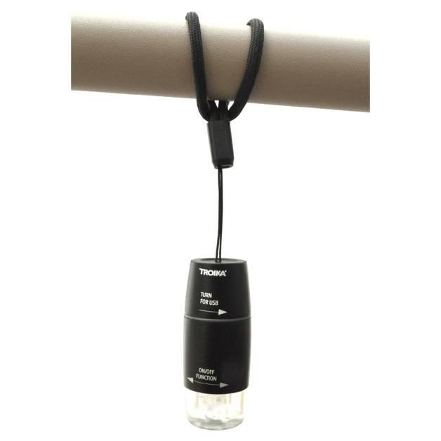 Troika USB Light 'USB oplaadbaar' zwart
