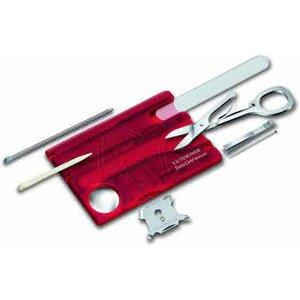 Victorinox Swisscard - Nailcare rood transparant