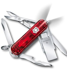 Victorinox Midnite Manager@work transparant rood