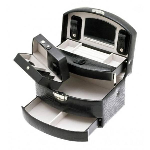 Juwelenkistje - zwart Croco-Ostrich - medium - automatisch - 345965