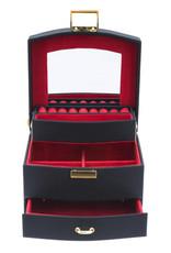 Davidt's - juwelendoos - half automatisch -  rood - 333023-14