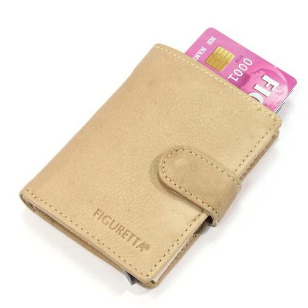 Card protector - creditcardhouder - regular nappa beige - leer