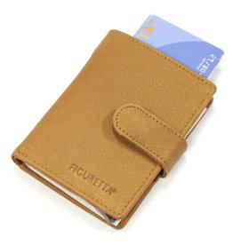 Card protector - creditcardhouder - regular nappa cognac - leer