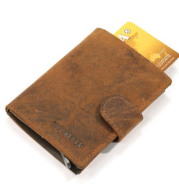 Card protector - creditcardhouder - leer hunter oily bruin