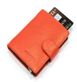 Card protector - creditcardhouder - leer - rood