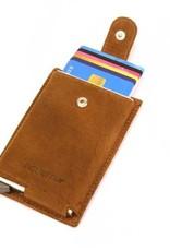 Card protector single- creditcardhouder - leer - hunter oily bruin
