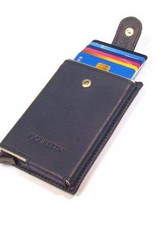 Card protector single- creditcardhouder - leer - blauw
