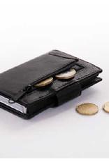Card protector - creditcardhouder - leer - zwart met rits