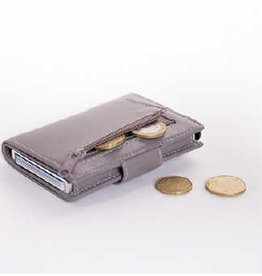 Card protector - creditcardhouder - leer - grijs met rits