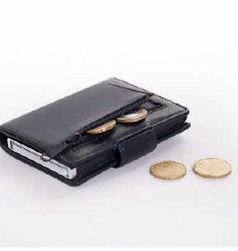 Card protector - creditcardhouder - leer -  donker blauwmet rits