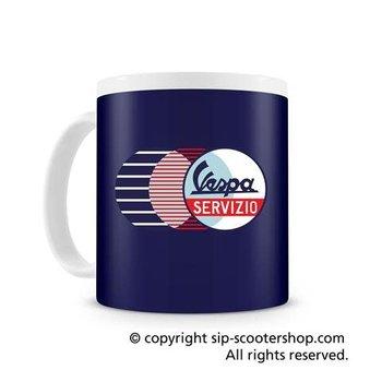 """Vespa Servizio"", blue mug, VPCE68"