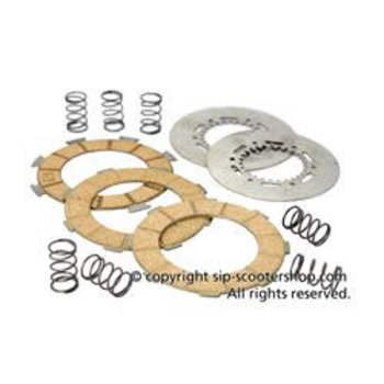 Clutch Friction Plates, 3 plates,  cork, 7 spring